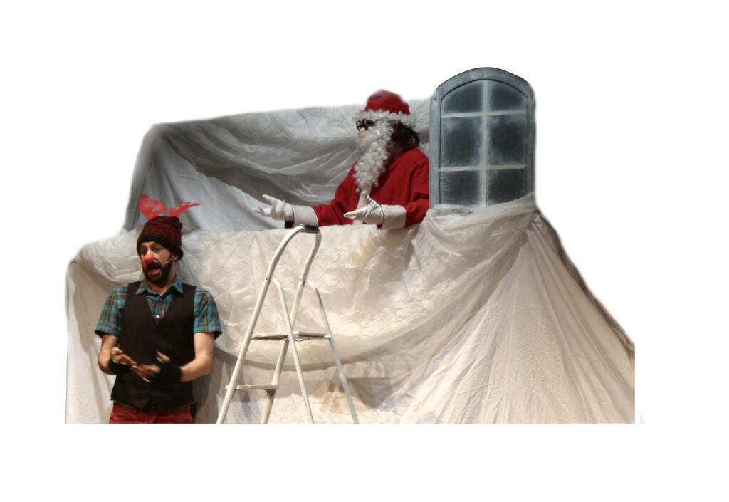 """""""Rudolph la renna dal naso rosso"""" - Teatro Positivo - Spettacoli per bambini con attori e burattini con livelli di lettura per diverse età."""