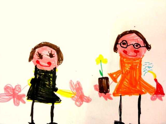 I bambini disegnano Gianluca Valoppi e Michele Zamparini in scena dal vivo