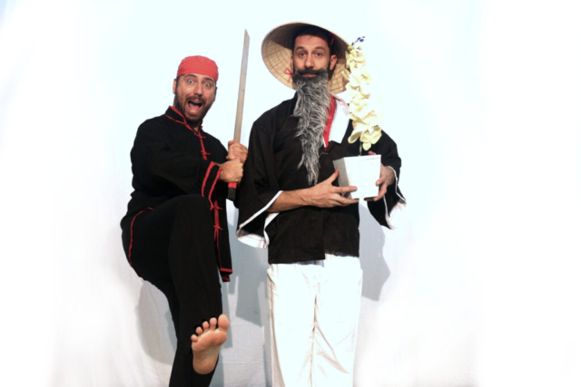 I personaggi dello spettacolo Il maestro e la spada